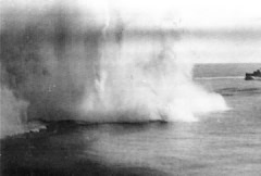 'Near Miss' HMS Indomitable during Operation Pedestal from the papers of Laurie Conlon
