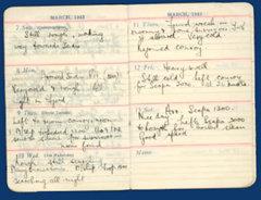 Colin Craston - Diary 1943