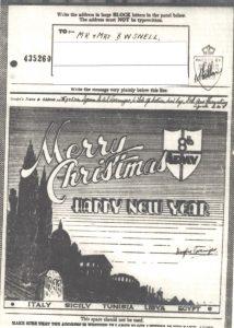 Xmas Menu Brindisi 110MU 1944