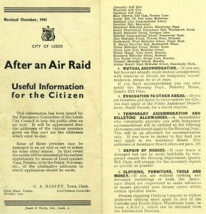 air raid leaflet 1941 - Bombs over Bristich Towns and Cities