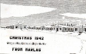 Christmas card 1942 Marlag O POW camp (Coles,C)