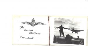 Christmas card 1944 Escort Carrier HMS Ravager- Rodon, H