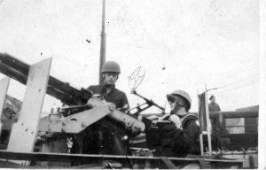 RN Crew manning a Vickers Machine gun
