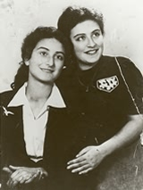 Sophie and Janina immediately after the war.