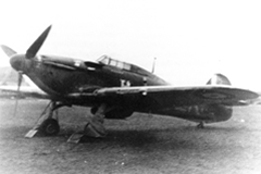 R P Beamont's Hurricane of 609 Squadron, showing five victories and just fitted with glaze shields for night fighting - October 1940. [R P Beamont]