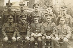 Shirley's father, Robert Leslie Buttress, right hand side, front row. Military police 1939 - 45