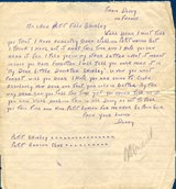 letter to Shirley from her father