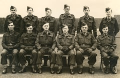 Officers of the East Boldon Home Guard.
