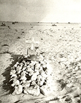 Larry Gain's grave at Alamein