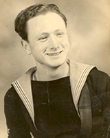 During naval service, aged 20.