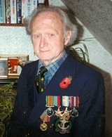 George before a Remembrance Day commemoration