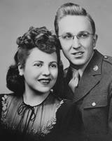Merrill and Edna's wedding photograph.