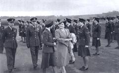 The King and Queen visiting RAF Tempsford November 1943  [B H Atkins]