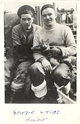 'Geordie and Tibs' with Bill Smith on HMS Magpie