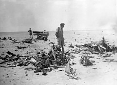 German wreckage surveyed by Talbot after the battle