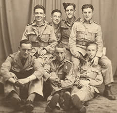 Oct 1941. Syd Burrow, back row, far right, with friends