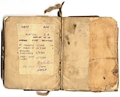 Pay and Service book of David Rintoul, showing some of the illnesses he suffered as a POW