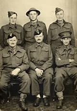 Capt Harry Silman (bottom row right), shortly after his evacuation from Dunkirk 1940